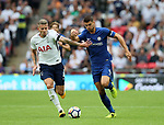 Tottenham's Toby Alderweireld tussles with Chelsea's Alvaro Morata during the premier league match at the Wembley Stadium, London. Picture date 20th August 2017. Picture credit should read: David Klein/Sportimage