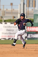 Jack Mayfield (2) of the Lancaster JetHawks runs the bases during a game against the Visalia Rawhide at The Hanger on June 16, 2015 in Lancaster, California. Lancaster defeated Visalia, 11-3. (Larry Goren/Four Seam Images)