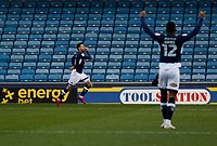 GOAL - Lee Gregory of Millwall celebrates his goal during the Sky Bet Championship match between Millwall and Sheff United at The Den, London, England on 2 December 2017. Photo by Carlton Myrie / PRiME Media Images.