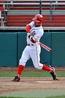 St.John's Red Storm outfielder Jimmy Brennan (24)  during a game vs. the Cincinnati Bearcats at Jack Kaiser Stadium in Queens, NY;  March 25, 2011.  St. John's defeated Cincinnati 3-2.  Photo By Tomasso DeRosa/Four Seam Images
