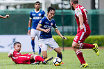 Michael Luk Chi Ho of Kwoon Chung Southern (L) trips up with Siu Kwan Cheng of Rangers (C) during the Premier League, week two match between Kwoon Chung Southern and BC Rangers at on September 09, 2017 in Hong Kong, China. Photo by Marcio Rodrigo Machado / Power Sport Images