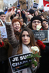 Charlie Hebdo Sunday mass demonstration Republique
