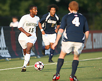 04 September 2009: Sean McGrath #4 of the University of Notre Dame tries to block the progress of Nick Millington #15 of Wake Forest University during an Adidas Soccer Classic match at the University of Indiana in Bloomington, In. The game ended in a 1-1 tie..