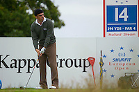 Smurfit Kappa European Open, K Club, Strafin, Co Kildare..Paul McGinley lines up his ball on the 14 tee during the 3rd round of the european open..Photo NEWSFILE/Eoin Clarke..(Photo credit should read Eoin Clarke/NEWSFILE)...This Picture has been sent you under the condtions enclosed by:.Newsfile Ltd..the Studio,.Millmount Abbey,.Drogheda,.Co Meath..Ireland..Tel: +353(0)41-9871240.Fax: +353(0)41-9871260.GSM: +353(0)86-2500958.email: pictures@newsfile.ie.www.newsfile.ie.FTP: 193.120.102.198..This picture is from Fran Caffrey@newsfile.ie