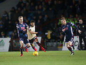 2nd December 2017, Global Energy Stadium, Dingwall, Scotland; Scottish Premiership football, Ross County versus Dundee; Dundee's Faissal El Bakhtaoui takes on Ross County's Billy McKay and Ross County's Michael Gardyne