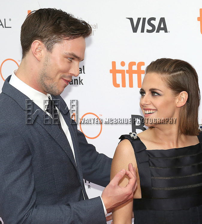 Nicholas Hoult and Kristen Stewart attend the 'Equals' premiere during the 2015 Toronto International Film Festival at the Princess of Wales Theatre on September 13, 2015 in Toronto, Canada.