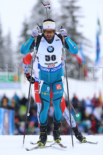 8th December 2017, Biathlon Centre, Hochfilzen, Austria; IBU Biathlon World Cup; Simon Fourcade