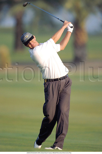 JOAKIM HEAGGMAN (SWE), Dubai Desert Classic, 980226 Photo:Glyn Kirk/Action Plus...1998.Golf.golfer golfers