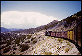 D&amp;RGW #475 K-28 with freight consist on Barranca grade.<br /> D&amp;RGW  Barranca Grade, CO