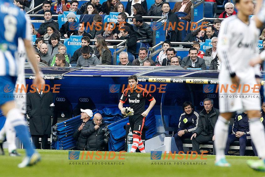 Real Madrid's Iker Casillas during La Liga match.January 06,2013. (ALTERPHOTOS/Acero) .Madrid 6/1/2013 Stadio Santiago Bernabeu .Football Calcio 2012/2013.La Liga Spagna Real Madrid Vs Real Sociedad .Foto Alterphotos / Insidefoto .ITALY ONLY
