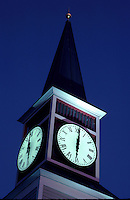 Early evening photo of clock tower. Houston Texas.