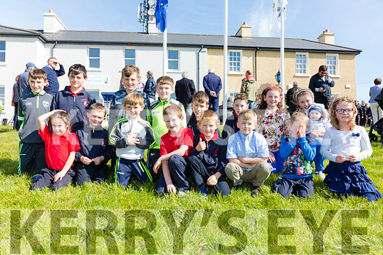 Pictured at the official opening of The Iveragh Coastguard Station in Waterville on Monday were front l-r; Grace Murphy, Fionán Brain, Kieran Dwyer, Luke Fitzgerald, Jack Coffey, Jack Cross, Cian Coffey, Orla Walsh, back l-r; Darragh O'Dwyer, Cian Murphy, Darragh Walsh, Bernard O'Dwyer, Darren O'Sullivan, Tom Boyle, Kayleigh Walsh, Aoibhinn Walsh & Cialan Walsh.