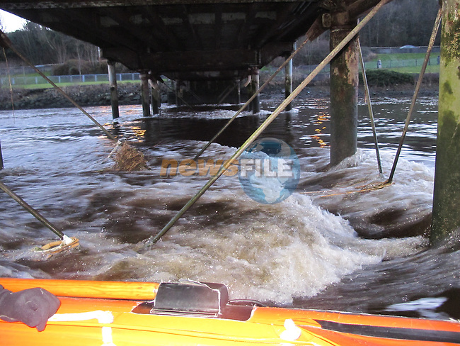 the structure of Dominics Bridge.<br /> TAKE BY IRISH COAST GUARD.<br /> Picture: Fran Caffrey www.newsfile.ie