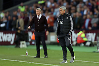 Manchester United manager Jose Mourinho with /West Ham United manager David Moyes in the background during West Ham United vs Manchester United, Premier League Football at The London Stadium on 10th May 2018