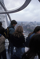 Aboard the London Eye with Westminster in the Background