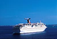 The cruise ship SS Holiday, Atlantic ocean, 05-1015, Ship, Carnival Cruise Line. Caribbean Sea.