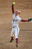 25 October 2007: Stanford Cardinal Becky McCullough during Stanford's 5-4 loss in seven innings against the San Jose State Spartans at Boyd & Jill Smith Family Stadium in Stanford, CA.