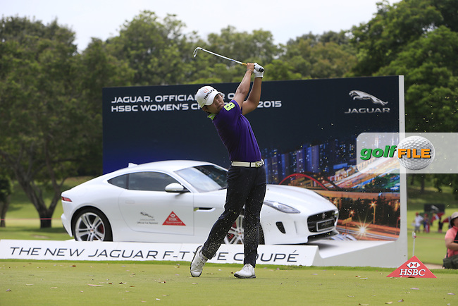 Haru Nomura (JPN) on the 17th tee during Round 3 of the HSBC Women's Champions at the Sentosa Golf Club, The Serapong Course in Singapore on Saturday 7th March 2015.<br /> Picture:  Thos Caffrey / www.golffile.ie