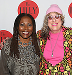 Brenda Russell and Allee Willis backstage at The Lilly Awards Broadway Cabaret'   at The Cutting Room on November 9, 2015 in New York City.