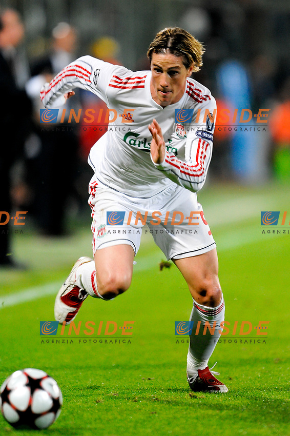 Fernando TORRES Liverpool<br /> Firenze 29/9/2009 Stadio &quot;Artemio Franchi&quot;<br /> Champions League Group Stage<br /> Fiorentina Liverpool 2-0 <br /> Photo Andrea Staccioli Insidefoto