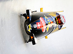 15 December 2007: Switzerland 1 pilot Ivo Rueegg with brakeman Cedric Grand exit a turn during their first run at the FIBT World Cup Bobsled Competition at the Olympic Sports Complex on Mount Van Hoevenberg, at Lake Placid, New York, USA. ..Mandatory Photo Credit: Ed Wolfstein Photo