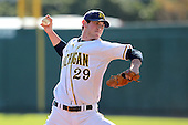Travis Smith #29 of the Michigan Wolverines during the Big East-Big Ten Challenge vs. the St. John's Red Storm at Al Lang Field in St. Petersburg, Florida;  February 19, 2011.  St. John's defeated Michigan 13-6.  Photo By Mike Janes/Four Seam Images