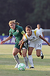 24 June 2009: Lori Chalupny (17) of Saint Louis Athletica and Stephanie Cox (14) of the Los Angeles Sol compete for a loose ball.  Saint Louis Athletica was defeated by the visiting Los Angeles Sol 1-2 in a regular season Women's Professional Soccer game at AB Soccer Park, in Fenton, MO.