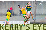 Jonathan Lyne and Anthony Maher Kerry in action against Neil Gallagher Donegal in Division One of the National Football League at Austin Stack Park Tralee on Sunday.