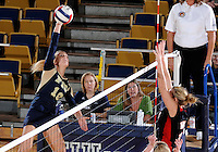 Florida International University women's volleyball player Marija Prsa (10) plays against Western Kentucky University.  Western Kentucky won the match 3-0 on September 30, 2011 at Miami, Florida. .