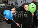 Conor and Jack McCabe at the Water Charges March at St.Peters Steps, Drogheda