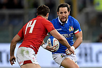 Michele Campagnaro Italy, Jonah Holmes Wales.<br />  <br /> Roma 9-02-2019 Stadio Olimpico<br /> Rugby Six Nations tournament 2019  <br /> Italy - Wales <br /> Foto Antonietta Baldassarre / Insidefoto