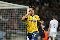 Paulo Dybala of Juventus celebrates scoring the second goal during Tottenham Hotspur vs Juventus, UEFA Champions League Football at Wembley Stadium on 7th March 2018