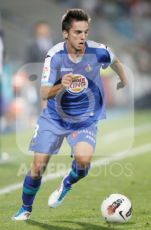 Getafe's Pablo Sarabia during La Liga Match. September 26, 2011. (ALTERPHOTOS/Alvaro Hernandez)