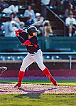 24 August 2019: Lowell Spinners third baseman Nick Northcut in action against the Vermont Lake Monsters at Centennial Field in Burlington, Vermont. The Spinners rallied in the 9th inning to overcome a 2-1 deficit and defeat the Lake Monsters 3-2 in NY Penn League play. Mandatory Credit: Ed Wolfstein Photo *** RAW (NEF) Image File Available ***