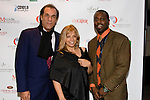 "Astoria's own Robert Davi, director of ""The Dukes"" with Marie J. Plante-Castaldo, founder of the Queens International Film Festival & Be' Garrett, director of ""A Nick in Time"""