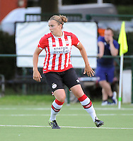 20160824 - GENT , BELGIUM : PSV Eindhoven's Kim Mourmans  pictured during a friendly game between KAA Gent Ladies and PSV Eindhoven during the preparations for the 2016-2017 season , Wednesday 24 August 2016 ,  PHOTO Dirk Vuylsteke   Sportpix.Be