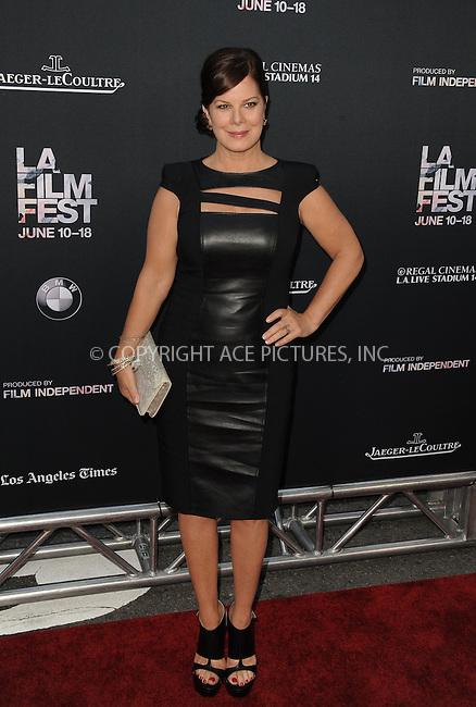 WWW.ACEPIXS.COM<br /> <br /> June 10 2015, Los Angeles Ca<br /> <br /> Marcia Gay Harden arriving at the 'Grandma' premiere at Regal Cinemas on June 10 2015 in Los Angeles Ca.<br /> <br /> Please byline: Peter West/ACE Pictures<br /> <br /> ACE Pictures, Inc.<br /> www.acepixs.com<br /> Email: info@acepixs.com<br /> Tel: 646 769 0430