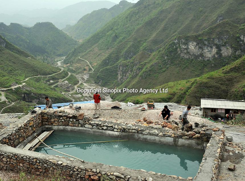 A newly opened mine belonging to Yin Ye Mining Co Ltd, in Luoxi Mercury Mining Area, near Wanchuan, Guizhou, China..20 Apr 2009