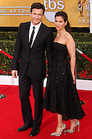 LOS ANGELES, CA - JANUARY 18: Jason Bateman, Amanda Anka at the 20th Annual Screen Actors Guild Awards held at The Shrine Auditorium on January 18, 2014 in Los Angeles, California. (Photo by Xavier Collin/Celebrity Monitor)