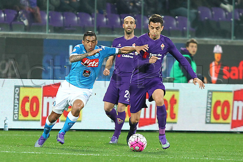 29.02.2016. Stadium Artemio Franchi, Florence, Italy.  Serie A football league. Fiorentina versus Napoli. Allan (N) in action