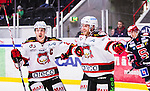 S&ouml;dert&auml;lje 2014-10-23 Ishockey Hockeyallsvenskan S&ouml;dert&auml;lje SK - Malm&ouml; Redhawks :  <br /> Malm&ouml; Redhawks Frederik Storm firar sitt 3-1 m&aring;l med Henrik Hetta <br /> (Foto: Kenta J&ouml;nsson) Nyckelord: Axa Sports Center Hockey Ishockey S&ouml;dert&auml;lje SK SSK Malm&ouml; Redhawks jubel gl&auml;dje lycka glad happy