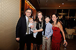 Bar Mitzvah Party.Brother and sisters on stage.Ritz Carlton Ballroom.White Plains, New York..