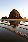Haystock Rock and tide pools at Cannon Beach, OR