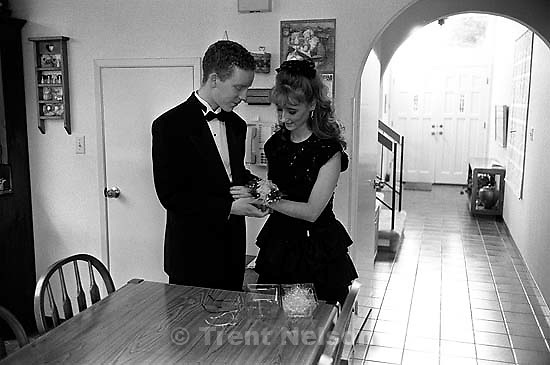 Jason McClean and April Nelson going to her Senior Ball.<br />