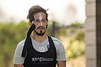 San Jose, CA - Sunday October 21, 2018: Jahmir Hyka prior to a Major League Soccer (MLS) match between the San Jose Earthquakes and the Colorado Rapids at Avaya Stadium.