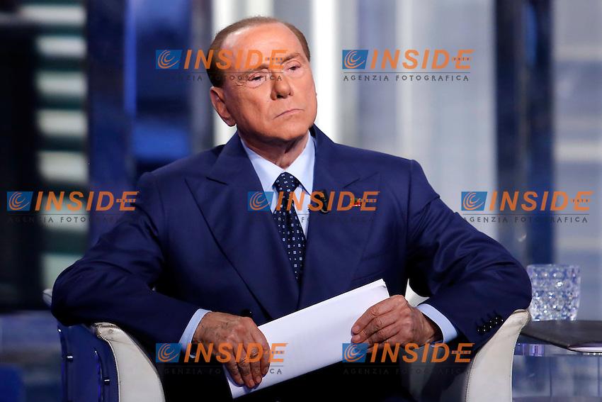Silvio Berlusconi<br /> Roma 12-11-2015 Studi Rai via Teulada. Trasmissione Porta a Porta. Tv Show Porta a Porta.<br /> Photo Samantha Zucchi Insidefoto