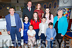 Aoibhínn McElligott from Scoil Mhuire Gan Smal, Lixnaw celebrating her confirmation in Lixnaw on Tuesday.<br /> L to r: Pat Joe, Nessa, Padraig, Odhran, Cliodhla, Muireann, Eamon, Aisling and Rose McElligott.