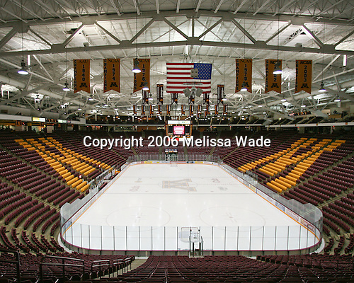 Mariucci Arena, the home of the University of Minnesota's men's hockey program, was built in 1993 and remodeled to add seats in both 1996 and 2001.  It has an Olympic-sized ice sheet and seats 10,000.