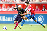 Sporting de Gijon's Sergio Alvarez (r) and FC Barcelona's Neymar Santos Jr during La Liga match. September 24,2016. (ALTERPHOTOS/Acero)
