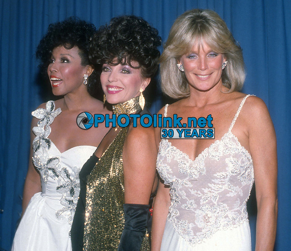 #DiahannCarroll #JoanCollins  #LindaEvans  1986<br /> Photo By John Barrett/PHOTOlink.net